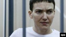 Надежда Савченко в Басманном суде Москвы 10 февраля 2015 года