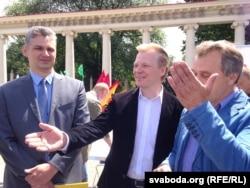 Юрась Губарэвіч, Віталь Рымашэўскі і Анатоль Лябедзька