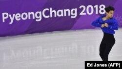 Денис Тен во время выступления на Олимпийских играх в Южной Корее. Пхёнчхан, 16 февраля 2018 года.
