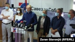 Lideri Saveza za Srbiju na konferenciji za novinare 8. jula