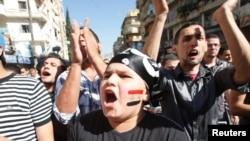 Демонстрация за отставку президента Сирии, организованная живущими в Ливане сирийцами
