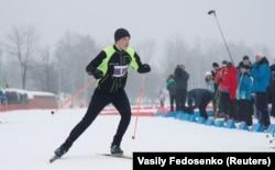 Мікалай Лукашэнка на «Менскай лыжні-2019»