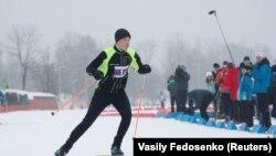 Мікалай Лукашэнка на«Менскай лыжні-2019»