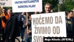 Sa prvomajskog proteta u Tuzli, 1. maj 2014.