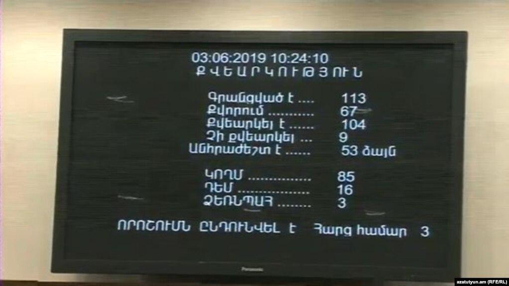 АРМЕНИЯ: Парламент Армении принял в окончательном чтении проект о введении госпошлины на импортируемый цемент
