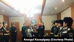 Церемония присвоения Анаргуль Каусылгазыкызы звания полковника.