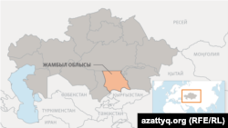 Kazakhstan - Map of Zhambyl Region.