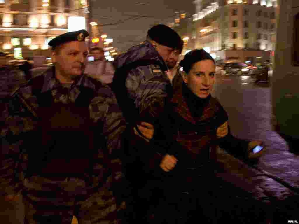 Задержаны более 30 человек, в том числе руководитель московского отделения Объединенного гражданского фронта Лолита Цария.