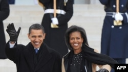 Барак Обама з дружиною Мішель, Вашингтон, 18 січня 2009 р.
