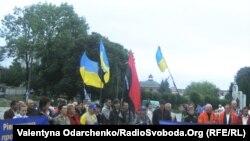 Акція протесту проти добудови Хмельницької АЕС, Острог, 2 серпня 2011 року