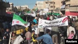 Демонстрация против режима Ассада в Сирии