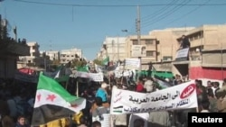 Демонстрация протеста в Сирии