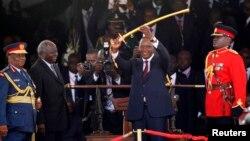 На снимке: президент Ухуру Кениата на церемонии вступления в должность