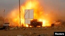 Pamje nga sulmi i sotëm me bombë në Bagdad