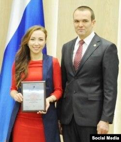Екатерина Николаева на встрече с президентом Чувашии. Фото из соцсети