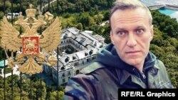 """Алексей Навальный и """"дворец Путина"""", коллаж"""