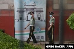 Посольство Индии в Пекине, взятое под усиленную охрану. 16 июня 2020 года