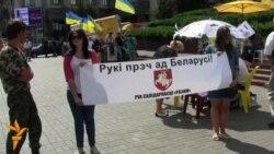 «Мовних» голодувальників у Києві підтримали білоруси