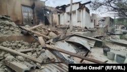 Разрушения в селе Ходжаи Аъло