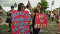 Жители Гуама выступают за мир в связи с заявлениями Северной Кореи и Трампа (видео)