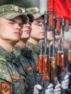 La Tiraspol, se fac repetiții pentru parada de 9 mai (30 aprilie 2021)