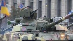 Танки на майдані. Репетиція військового параду до Дня Незалежності (відео)