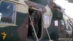 Սերժ Սարգսյանը ուղղաթիռով ժամանել է Ստեփանակերտ