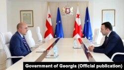 RFE/RL President Jamie Fly meeting with Georgian Prime Minister Irakli Garibashvili