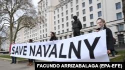 Протест против затворањето на рускиот опозициски лидер Алексеј Навални