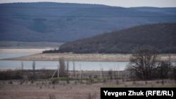 Чернореченское водохранилище, январь 2021 года