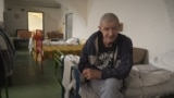 Mihály Bacsa, retired, living in a homeless shelter in Budapest Hungary. video grab
