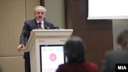Мустафа Шентоп, Претседателот на Големото национално собрание на Турција - Скопје, 21 декември 2020