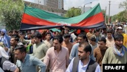 Акция протеста против талибов, Кабул, 19 августа 2021 года