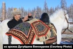 Дугуйдан Винокуров и его конь Хафтак