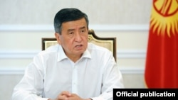 Президент Кыргызстана Сооронбай Жээнбеков. 12 сентября 2020 года.