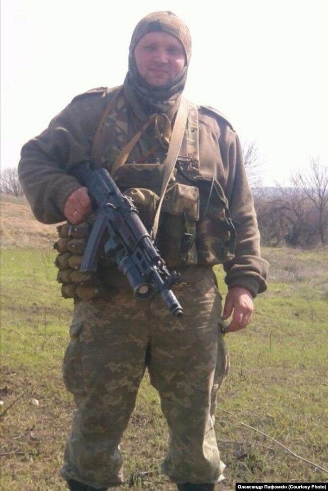 Олександр Пафомкін у зоні бойових дій на Донбасі