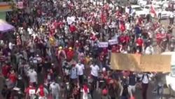 په میانمار کې د کودتا ضد مظاهرې شوي