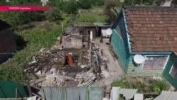 Горловка разрушена - видео с дрона