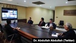 کنفرانس مجازی داکتر عبدالله عبدالله با نمایندگان و سازمانهای جهانی در باره صلح افغانستان
