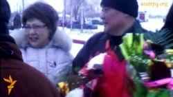Supporters Greet Esergepov As He Leaves Prison