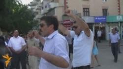 """Metronun """"Neftçilər"""" stansiyası qarşısında aksiyaya cəhd"""