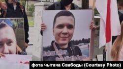 Акція в пам'ять про загиблого в Мінську співробітника IT-компанії Андрія Зельцера, Варшава