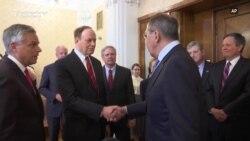 Russia's Lavrov Meets U.S. Lawmakers, Hopes Visit Symbolizes 'Resumption Of Relations'