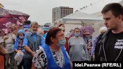 Сход граждан на площади в Уфе