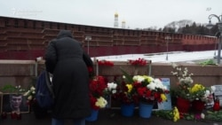 Russians Pay Tribute To Nemtsov Outside Kremlin