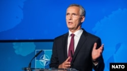 NATO Secretary-General Jens Stoltenberg said the new space center is to be set up in Ramstein, an air base close to the French border. (file photo)