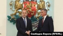 Президентът Румен Радев и служебният премиер ген. Стефан Янев