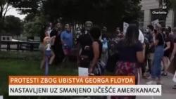 SAD: Protesti nastavljeni uz smanjeno prisustvo ljudi