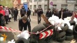 Ýaragly adamlar gündogar Ukrainada polisiýa stansiýasyny eýeledi