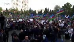 Mitinqdə çıxışlar: 'Mənşəyi məlum olmayan yağı xalqa yedirib...' (2-ci video)